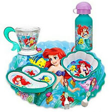 Disney Store Ariel Mermaid Plate Cup Tumbler Bottle Spoon Fork Mealtime Magic