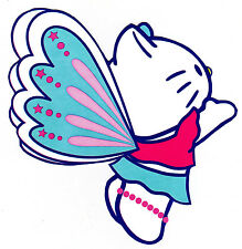 "5.5-9"" HELLO KITTY BUTTERFLY CHARACTER WALL SAFE STICKER BORDER CUT OUT"
