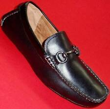 NEW Men's MARC ANTHONY WARNER Black Leather Loafers Slip On Casual/Dress Shoe