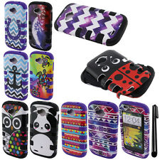For ZTE Savvy Z750C Fusion HYBRID Rubber HARD Case SILICONE Phone Cover + Pen