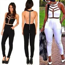 2014 Sexy Womens Ladies Gauze Outfits Bodycon Jumpsuit&Romper Trousers Clubwear
