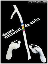 4229.Danza nacional de cuba.teatro garcia lorca.POSTER. decor Home Office art