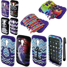For Motorola Moto G Falcon XT1032 Fusion HYBRID HARD Soft Case Cover Phone + Pen