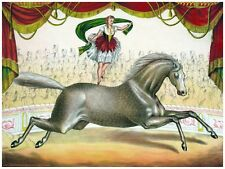 4480.Circus.woman jumping rope on moving horse.POSTER.decor Home Office art
