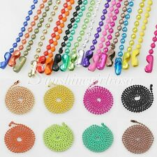 Free Ship 70cm(28inch)Iron Ball Chain Necklace Bead Connectors 1.5/2.4mm Lots