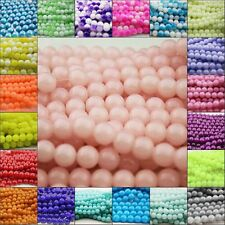 32pcs 10mm/8mm Round Glass Pearl Crystal Loose Spacer Beads Various 22 Colours