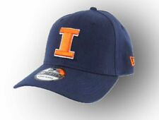 College NCAA Illinois Fitted New Era Blue Orange Baseball Hat Cap S/M & L/XL