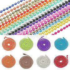 "18 Colors 1.5/2.4mm Metal Bead Ball Chain Necklace 70cm/28"" DIY Jewelry Making"