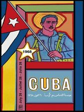 4506.OSPAAAL.jornada de solaridad mundial.cuba.POSTER.decor Home Office art