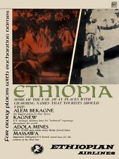 4530.OSPAAAL.Ethiopia.men hanging from tree.toursim.POSTER.decor Home Office art