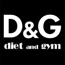 DIET & GYM (glamour workout famous treadmill fitness whey glamor parody) T-SHIRT