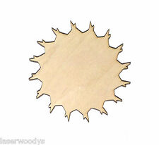 Flower Unfinished Flat Wood Shape Cut Out Variety Sizes FS4748 Laser Crafts