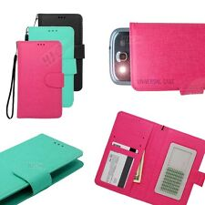 For HTC Flip Slide Up Credit Card ID Holder Wallet Pouch Cover Case Colors ITC