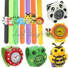 Animals Children 3D Cartoon Bendable Plastic Strap Kids Slap On Wrist Watches
