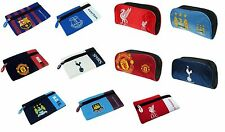 OFFICIAL FOOTBALL CLUB - PENCIL CASE (All Teams) Flat/Nylon/Rubber/Zip (School)
