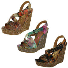 Naughty Monkey Twice The Fun Women's Wedges Sandals Shoes Floral