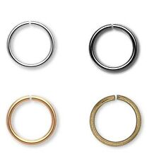 20 Open Jumprings 20 gauge 0.81mm Round Jewelry Ring Findings Plated Brass Metal