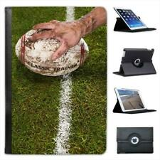 Muddy Hand Holding Muddy Rugby Ball on Line Folio Leather Case For iPad Mini