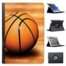 Basketball Sat On Wooden Court Floor Folio Leather Case For iPad Mini & Retina