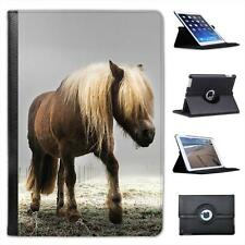 Long Haired Horse Walking Through Misty Field Leather Case For iPad Mini