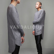 "XQUARE 23 Unblance Back Extended Long Tshirt 36"" Kanye ASAP FABRIXQUARE t657 #3"