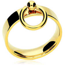 """Stainless Steel Ring of """"O"""", Gold, Slim,Fetish BDSM Jewellery 