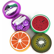 Hotsale Portable Fruit Contact Lens Case Storage Cleaning Box W/ Mirror Tweezers