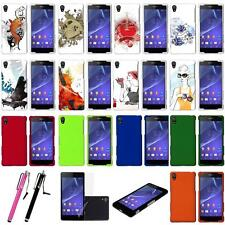 Sony Xperia Z2 Rubberized Printed Fitted Hard Snap On Plastic Armor Case Cover