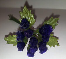 1 Bunch 12 Artificial Scottish Thistle & Leaf