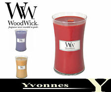 SALE WoodWick Scented Candle Large Jars 22oz  Regular & Christmas Fragrances