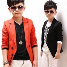Korean Style Kid Tuxedo Suit Spring Fall Boys Formal Wedding Party Jacket Coat