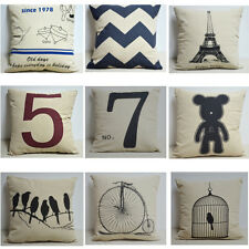 Simple Square Fashion linen Decorative Cushion Cover Throw Pillow Cover ZHT084