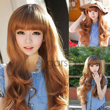 New Fashion Women's Ladies Long Wavy Curly Full Wigs Cosplay Party Hair Wig