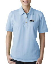 DUMP TRUCK CONSTRUCTION Embroidery Embroidered Lady Woman Polo Shirt
