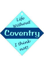 Coventry Car/window signs / Personalised signs / flexible magnets