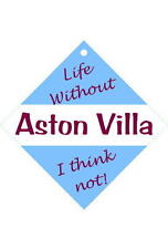 Aston Villa Car/window signs / Personalised signs / slap-on magnets