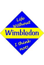 Wimbledon Car/window signs / Personalised signs / flexible magnets
