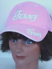 Foxy Cutie Baseball Cap Hat Pink Embroidered with Silver Stars and Hearts