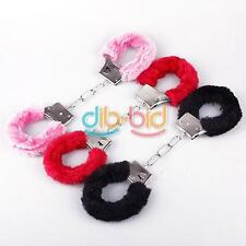 Fuzzy Furry Soft Metal Handcuffs Novelty Gift Hen Night Party Sexy Game Play