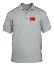 TURKIYE FLAG COUNTRY Embroidery Embroidered Unisex Adult Golf Polo Shirt