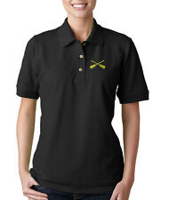 CROSSED OARS BOAT Embroidery Embroidered Lady Woman Polo Shirt