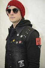 inFAMOUS Second Son Costume COMPLETE Jacket Vest Beanie Cap Delsin Rowe Tattoo