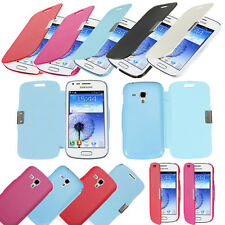 Flip Leather Magnetic Hard Case Cover For Samsung Galaxy Duos S7562 /Trend S7560