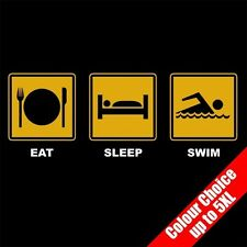 Eat Sleep SWIM Swimming Water Sports Funny T-Shirt Gifts 16 Colours - to 5XL