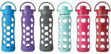Lifefactory 22 oz BPA-Free Glass Water Beverage Bottle Flip Cap Silicone Sleeve