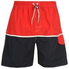 Mens Swimming Shorts Colour Block H20 Red Navy S M L XL Draw String New Surf