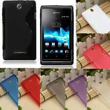 S line Soft TPU Gel Silicone Case Cover Skin For Sony Xperia E C1505 Dual C1605