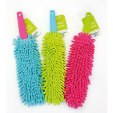 New Country Club Home Chenille Duster Microfibre Hand Held Bright Dust Brush