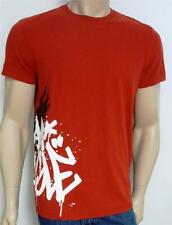 American Eagle Outfitters AEO Graffiti Logo Tee Mens Red Vintage Fit T-Shirt NWT