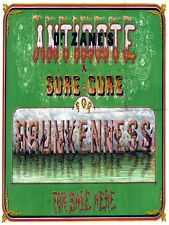 6158.Dr zane's antidote.sure cure for drunkenness.POSTER.Home Office art